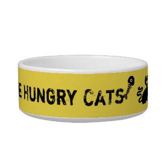 Passen Sie hungrige Cats~Cat Schüssel auf