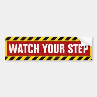 Passen Sie Ihre Schritt-Vorsicht auf Autoaufkleber