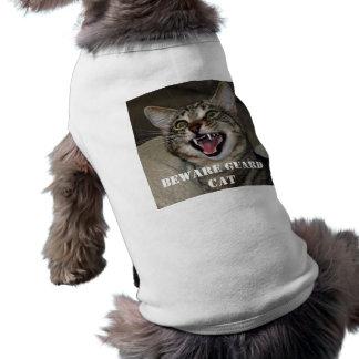 Passen Sie lustigen Foto-Hundeshirt der Schutz-Kat Ärmelfreies Hunde-Shirt