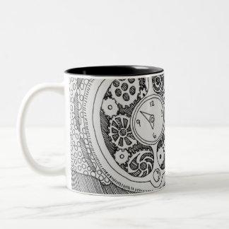 Passen Sie meinen Kaffee auf Zweifarbige Tasse