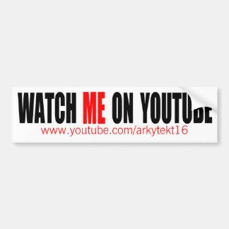 Passen Sie mich auf YouTube   auf, die modern sind Autoaufkleber