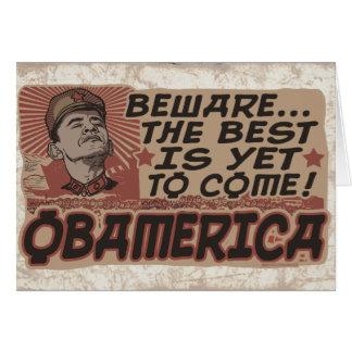 Passen Sie Obamas Obamerica auf Karte