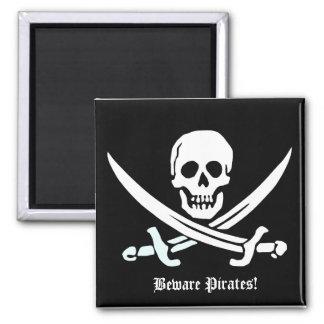 Passen Sie Piratenmagneten auf Quadratischer Magnet