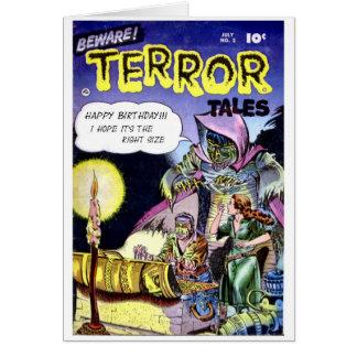 """""""Passen Sie Terror-Geschichten-"""" Geburtstags-Karte Karte"""