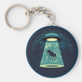 Passen Sie UFO auf Schlüsselanhänger
