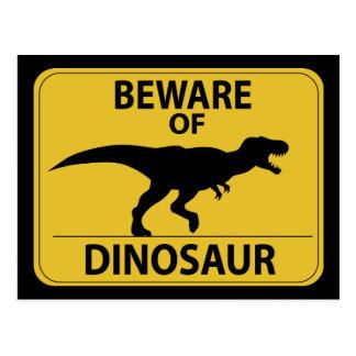 Passen Sie vom Dinosaurier auf Postkarte