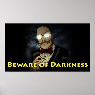Passen Sie vom Dunkelheits-Logo-Plakat w/Text auf Poster