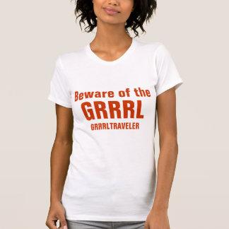 Passen Sie vom GRRRL | Weiß auf T-Shirt