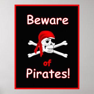 Passen Sie vom Piraten-Druck-Plakat auf Poster