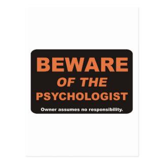 Passen Sie vom Psychologen auf Postkarte
