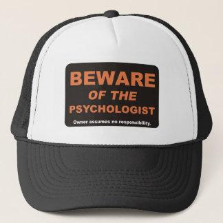Passen Sie vom Psychologen auf Truckerkappe