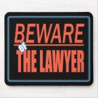 Passen Sie vom Rechtsanwalt-Zeichen Mousepad auf