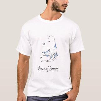 Passen Sie vom siamesischen blaue Katzen-T - Shirt