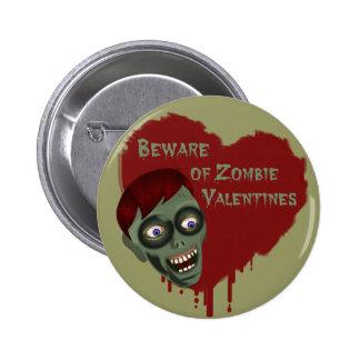 Passen Sie vom Zombie-Valentinsgruß-Knopf auf Anstecknadelbutton