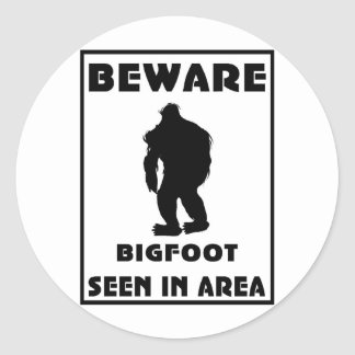 Passen Sie von Bigfoot-Plakat auf Runde Sticker