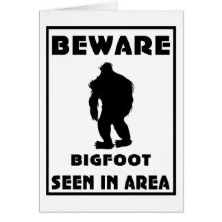Passen Sie von Bigfoot-Plakat auf Karten