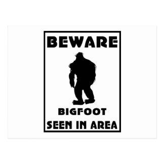 Passen Sie von Bigfoot-Plakat auf Postkarten