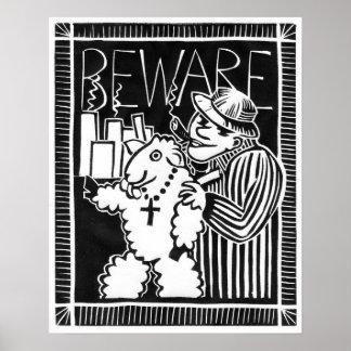 Passen Sie von den Kapitalisten in der Kleidung Poster