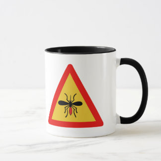 Passen Sie von den Moskitos, Verkehrszeichen, Tasse