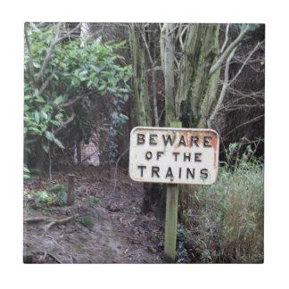 Passen Sie von den Zügen auf! - Strecke Fliese