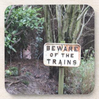 Passen Sie von den Zügen auf! - Strecke Untersetzer
