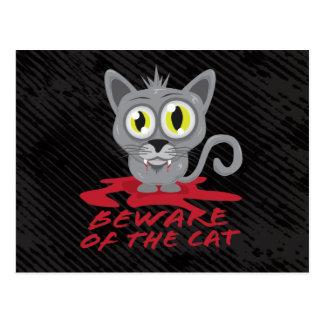Passen Sie von der Katzen-Postkarte auf Postkarte