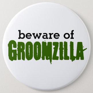 Passen Sie von Groomzilla Button auf Runder Button 15,3 Cm