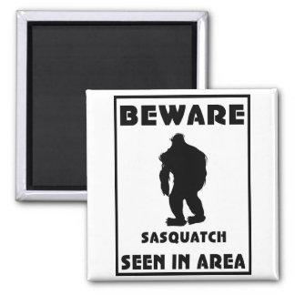Passen Sie von Sasquatch Plakat auf Kühlschrankmagnete