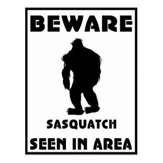 Passen Sie von Sasquatch Plakat auf Postkarten