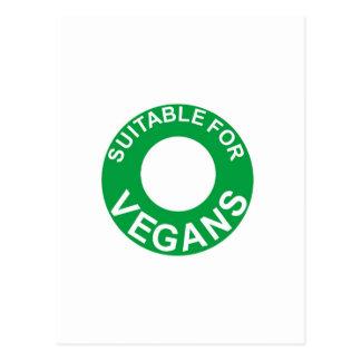 passend für Vegans Postkarte