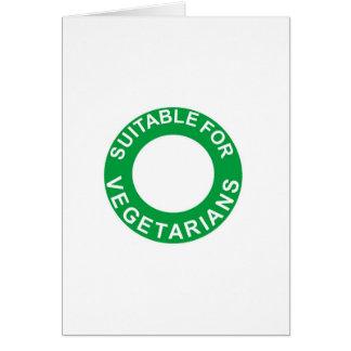 Passend für Vegetarier Karte