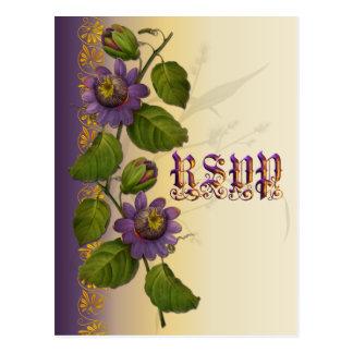 Passionflower, der lila UAWG Wedding ist Postkarte