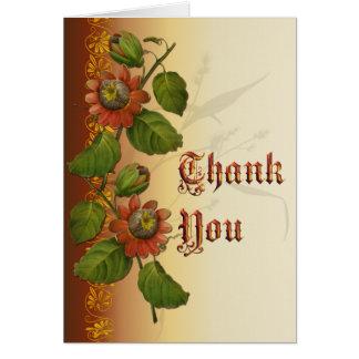 Passionflower-Hochzeits-Rost danken Ihnen Karte