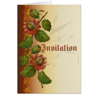 Passionflower-Hochzeits-Rost Karte