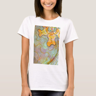 Passionflower-Kunst-Druck T-Shirt