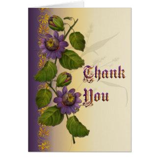 Passionflower Wedding lila danken Ihnen Karte