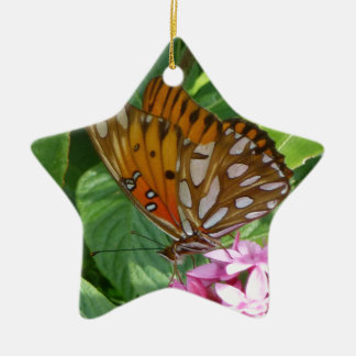 Passionsblumen-Schmetterling Keramik Ornament