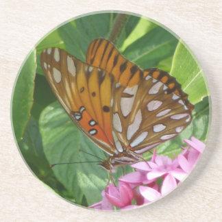 Passionsblumen-Schmetterling Sandstein Untersetzer