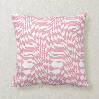 Pastel pink with white pattern kissen