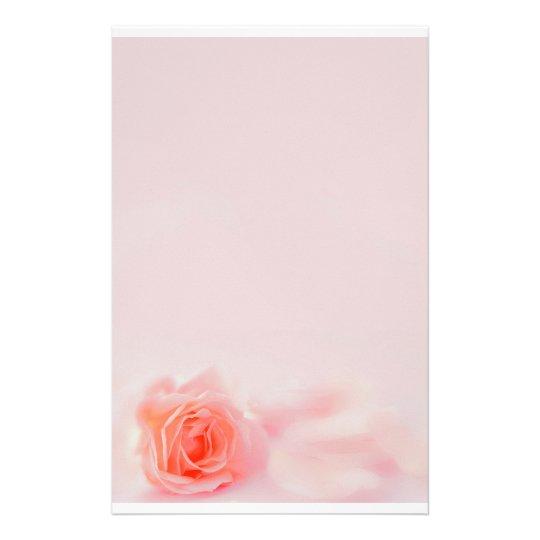 pastel stationery Rose Briefpapier