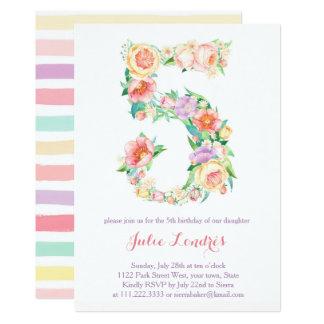 Pastell-5. Geburtstag lädt für Party im Freien ein Karte