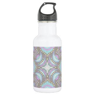 Pastell auf konkreter Straßen-Mandala Edelstahlflasche