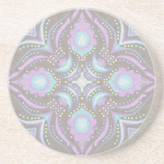 Pastell auf konkreter Straßen-Mandala Sandstein Untersetzer