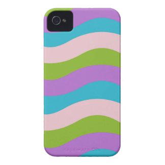 Pastell bewegt Streifen wellenartig iPhone 4 Hülle