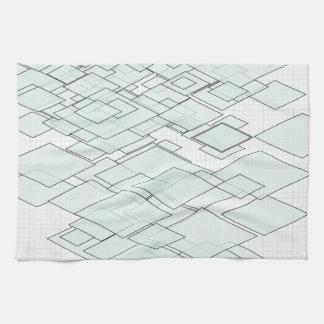 Pastell Diamond Graph paper SIRAdesign Geschirrtuch