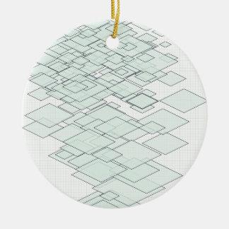 Pastell Diamond Graph paper SIRAdesign Rundes Keramik Ornament