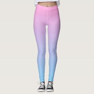 Pastell erblassen Sie - rosa und blaue Steigung Leggings