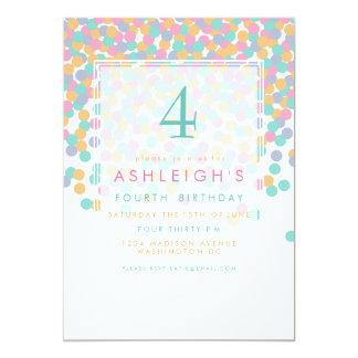 Pastell farbiges Kindergeburtstag-Party des 12,7 X 17,8 Cm Einladungskarte