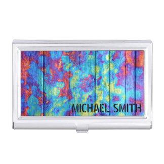 Pastell farbiges malendes Holz Visitenkarten-Behälter