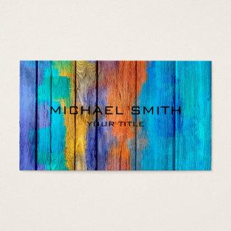 Pastell gefärbt auf Holz #10 Visitenkarte